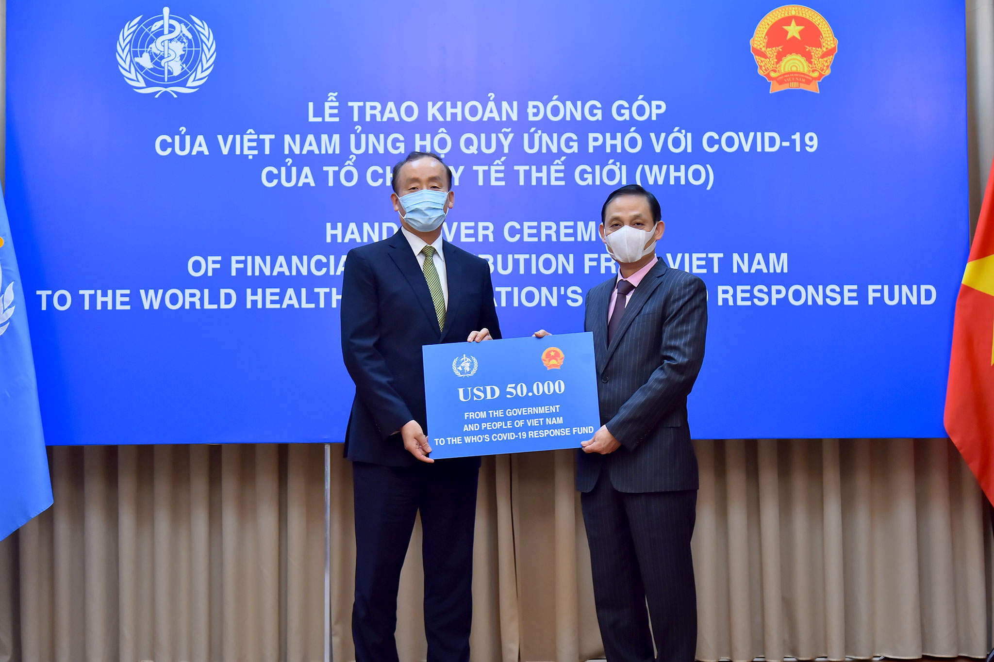 Việt Nam ủng hộ Quỹ ứng phó với COVID-19 của WHO