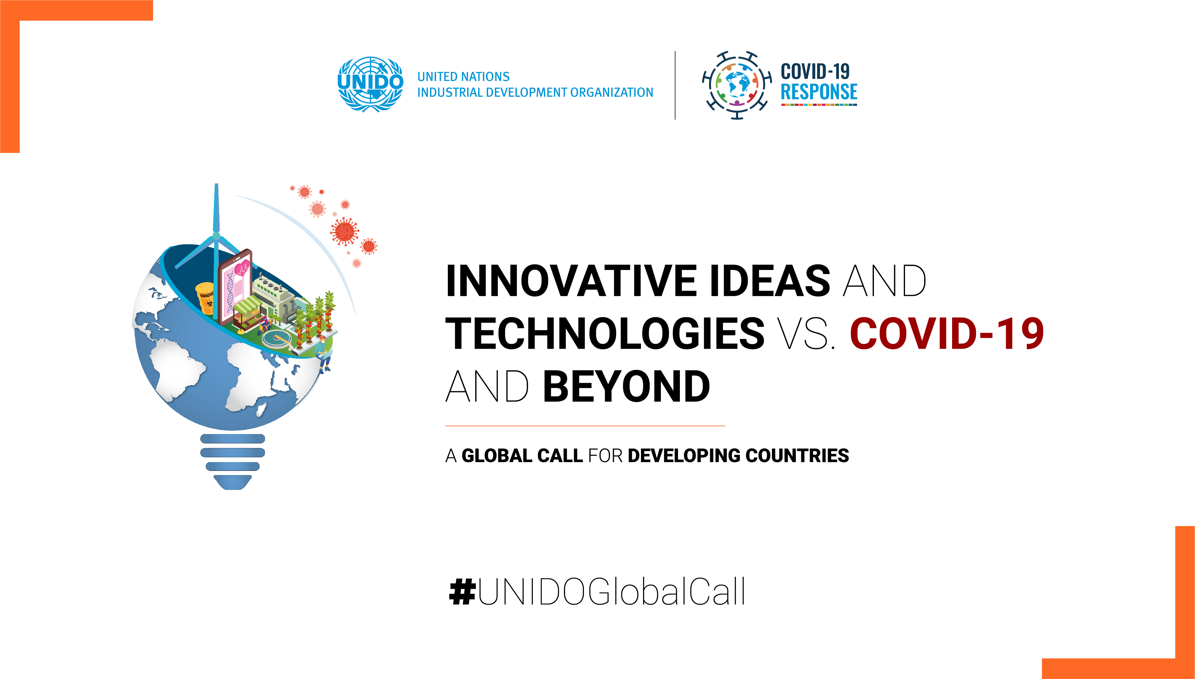 """UNIDO Global call for """"Innovative Ideas and Technologies vs. COVID-19 and beyond"""""""